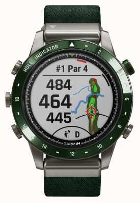 Garmin Golfeur de Marq | bracelet en nylon vert et bracelet en caoutchouc vert pin 010-02395-00