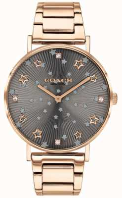 Coach | poiré des femmes | bracelet pvd en or rose | cadran étoile grise 14503524
