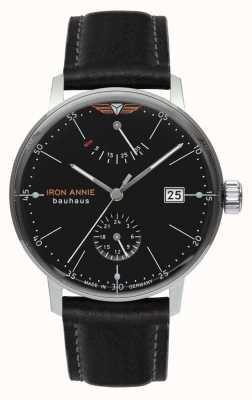 Iron Annie Bauhaus | automatique | bracelet en cuir noir | cadran noir 5060-2