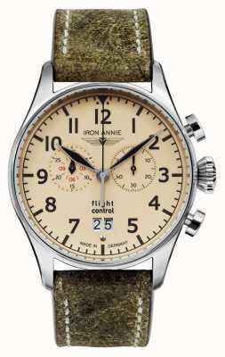 Iron Annie Quartz de contrôle de vol | bracelet marron | cadran beige 5186-5
