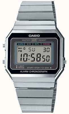 Casio Vintage | bracelet en argent | cadran numérique | A700WE-1AEF