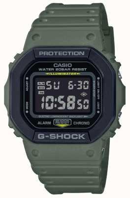 Casio G-shock | bracelet en caoutchouc vert | affichage numérique DW-5610SU-3ER