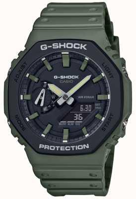 Casio G-shock | noyau de carbone | bracelet en caoutchouc vert | affichage numérique GA-2110SU-3AER