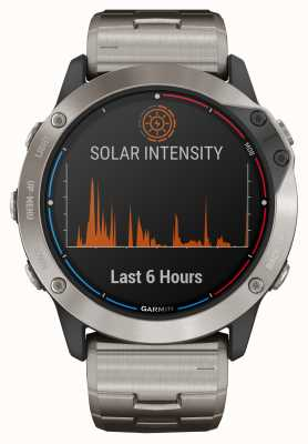Garmin Bracelet titane en verre à énergie solaire Quatix 6x 010-02157-31