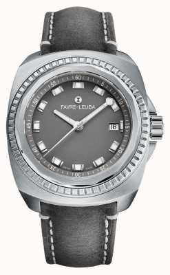 Favre Leuba Raider Sea King   bracelet en cuir antilope gris   cadran gris 00.10107.08.41.45