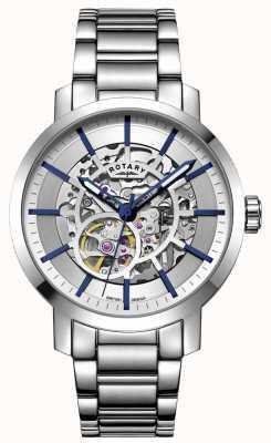 Rotary Greenwich automatique | bracelet en acier inoxydable | cadran argenté GB05350/06