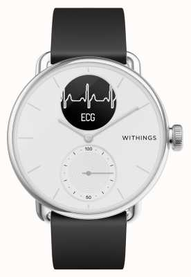 Withings Scanwatch 38 mm Blanc - Montre connectée hybride avec ECG HWA09-MODEL 1-ALL-INT