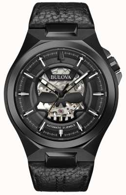 Bulova Hommes | maquina | automatique | bracelet en cuir noir 98A238
