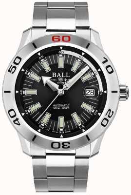 Ball Watch Company Pompier noir necc | bracelet en acier inoxydable | cadran noir DM3090A-S3J-BK