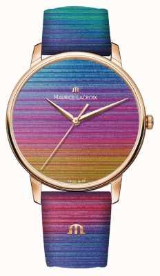 Maurice Lacroix Eliros rainbow édition limitée | bracelet en cuir arc-en-ciel EL1118-PVP01-090-1