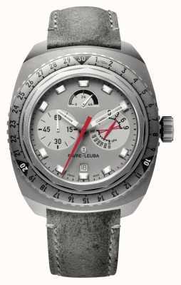 Favre Leuba Raider bivouac 9000   bracelet en cuir antilope gris 00.10105.06.45.45