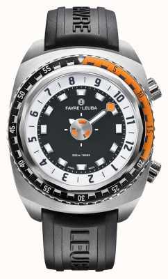 Favre Leuba Harpon Raider 46   bracelet en caoutchouc noir 00.10101.08.13.31