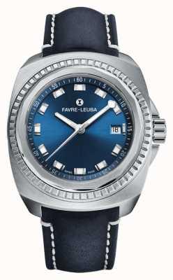 Favre Leuba Raider Sea King   cadran bleu   cuir antilope bleu 00.10107.08.51.46