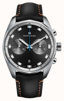 Favre Leuba Chronographe Chief Sky Chief   bracelet en cuir noir 00.10202.08.11.41