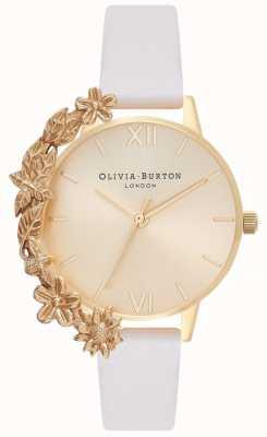 Olivia Burton Poignets | bracelet en cuir nude | cadran en or OB16CB10