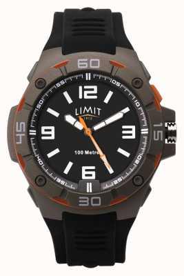 Limit Bracelet en caoutchouc noir pour homme | cadran noir 5788.65