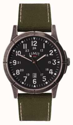 Limit Bracelet homme en toile verte | cadran noir | boîtier en alliage 5790.01