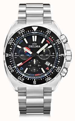 Delma Chronographe à quartz Oceanmaster | bracelet en acier inoxydable 41701.678.6.038