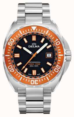 Delma Quartz étoile coquille | bracelet en acier inoxydable | lunette orange 41701.676.6.151