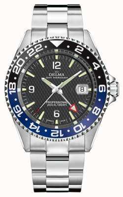 Delma Quartz gmt | lunette bicolore | bracelet en acier inoxydable | 41701.648.6.034