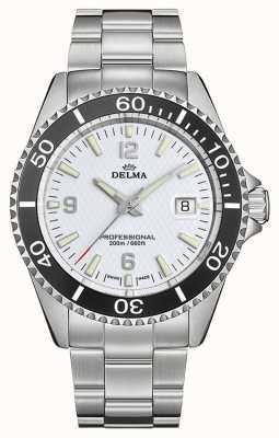 Delma Quartz de Santiago | bracelet en acier inoxydable | cadran blanc 41701.562.6.014