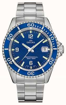 Delma Quartz de Santiago | bracelet en acier inoxydable | cadran bleu 41701.562.6.044