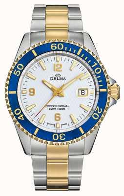 Delma Quartz de Santiago | bracelet en acier bicolore | cadran blanc 52701.562.6.014