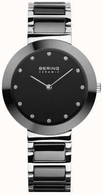 Bering Céramique pour femmes | bracelet en céramique noire | cadran noir 11434-742