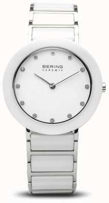 Bering Céramique pour femmes | bracelet en céramique blanche | cadran blanc 11434-754