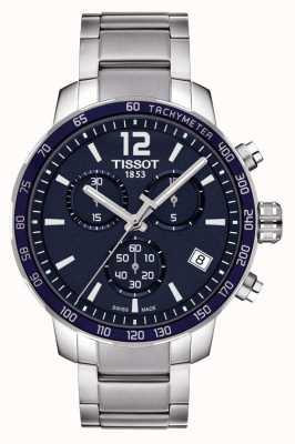 Tissot Chronographe à cadran bleu Quickster T0954171104700