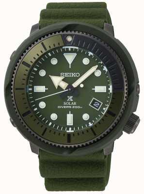 Seiko Rue Prospex | solaire | bracelet en silicone vert olive SNE535P1