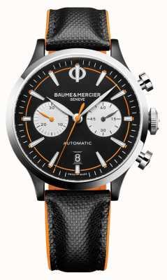 Baume & Mercier Capeland | hommes | automatique | cuir noir | cadran noir M0A10451