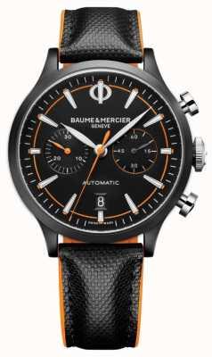 Baume & Mercier Capeland | hommes | automatique | cuir noir | cadran noir M0A10452