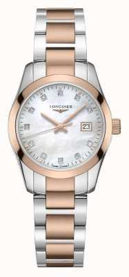Longines Classique de conquête | femmes | quartz suisse | deux tons L22863877