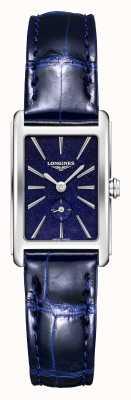 Longines Dolce vita   femmes   quartz suisse   cuir bleu L52554932