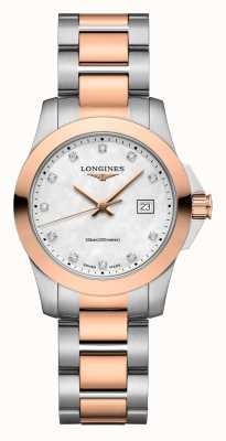 Longines | conquête classique | femmes | quartz suisse | deux tons L33763887
