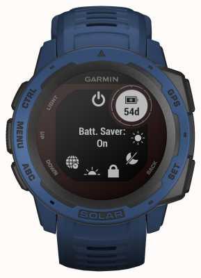 Garmin Bracelet en caoutchouc bleu marée Instinct Solar GPS 010-02293-01
