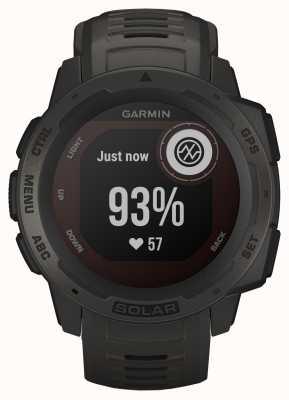 Garmin Bracelet en caoutchouc graphite Instinct Solar GPS 010-02293-00