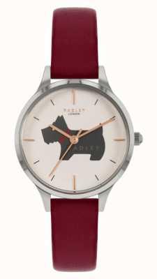 Radley Place Meridan | bracelet en cuir rouge | cadran à motif de chien RY2973