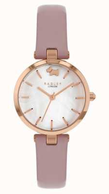 Radley Vue ouest | bracelet en cuir rose | cadran argenté RY2970