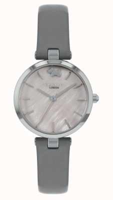 Radley Vue ouest | bracelet en cuir gris | cadran argenté RY2969