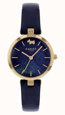 Radley Vue ouest | bracelet en cuir bleu marine | cadran bleu marine RY2972