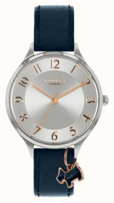 Radley route saxonne | bracelet en cuir bleu marine | cadran argenté RY2965