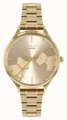 Radley Face à face | bracelet en acier doré | cadran en or RY4516