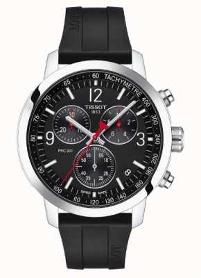 Tissot Prc 200 | chronographe | cadran noir | bracelet en caoutchouc noir T1144171705700