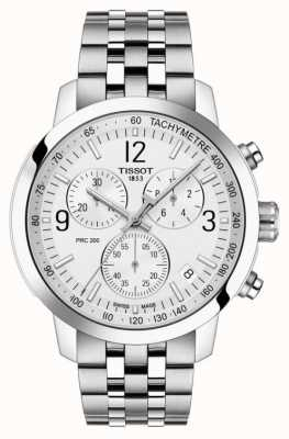 Tissot Prc 200 | chronographe | cadran blanc | acier inoxydable T1144171103700