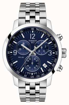 Tissot Prc 200 | chronographe | cadran bleu | bracelet en acier inoxydable T1144171104700