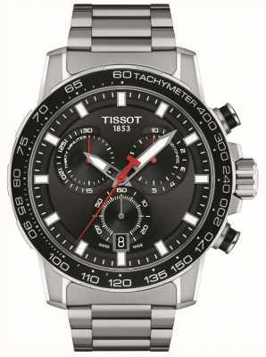 Tissot Chrono Supersport | cadran noir | bracelet en acier inoxydable T1256171105100