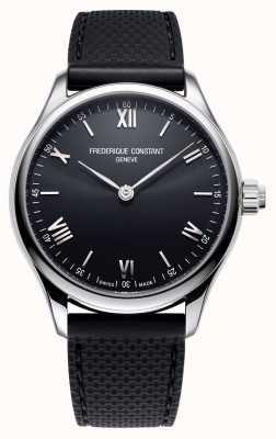 Frederique Constant Hommes | vitalité | montre connectée | cadran noir | Caoutchouc noir FC-287B5B6