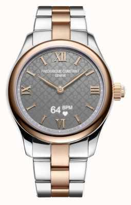 Frederique Constant Femmes | vitalité | smartwatch | cadran gris | deux tons FC-286BG3B2B